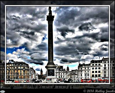 Digital Art - London by Holley Jacobs