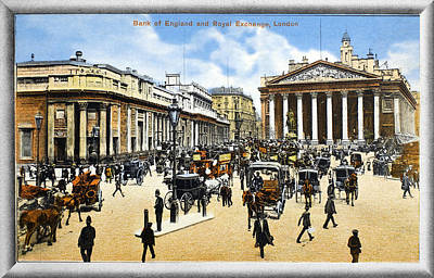 Turn Of The Century Painting - London Royal Exchange by Granger