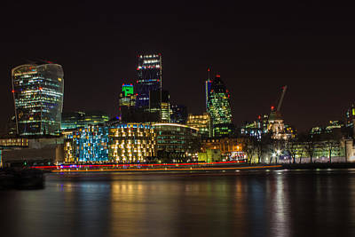 Urban Exploration Photograph - London Skyline by Martin Newman