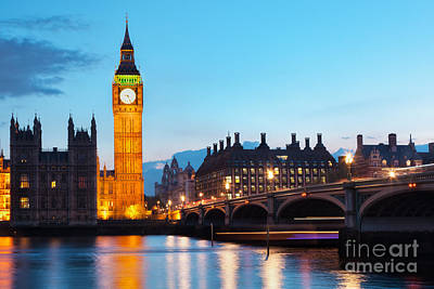 Sky Photograph - London The Uk Big Ben by Michal Bednarek