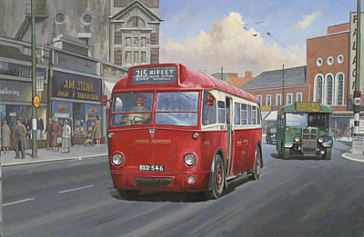 Streetscenes Painting - London Transport Q Type. by Mike  Jeffries