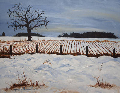 Lone Tree In Winter Print by Monica Veraguth