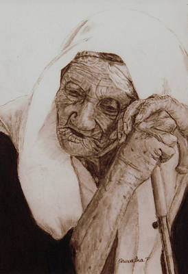 Drawing - Loneliness by Quwatha Valentine