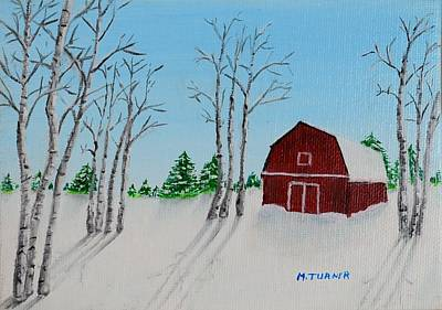 Art Print featuring the painting Lonely Barn by Melvin Turner