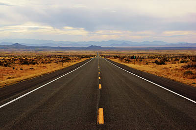 Photograph - Lonely Desert Road by Daniel Woodrum