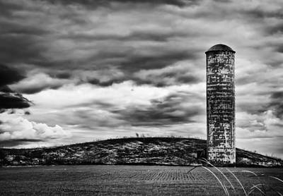 Lonely Silo Art Print by Ricky L Jones