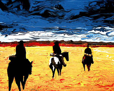 Painting - Long Journey Home by Frank Botello