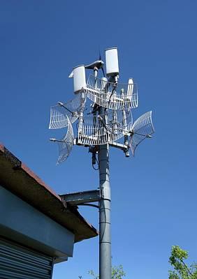 Long-range Wifi Antennae Print by Cordelia Molloy