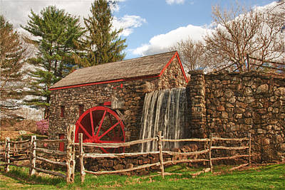 Photograph - Longfellow's Wayside Inn Grist Mill by Jeff Folger