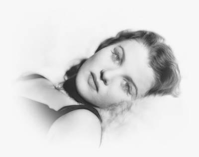 Woman Face Drawing - Longing by Steve K