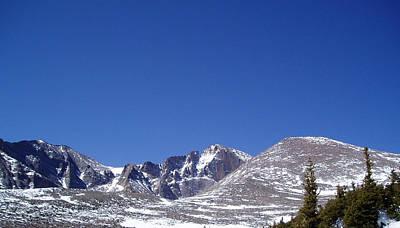 Photograph - Longs Peak And Blue Sky by Thomas Samida