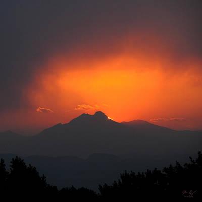 Photograph - Longs Peak Sunset by Aaron Spong