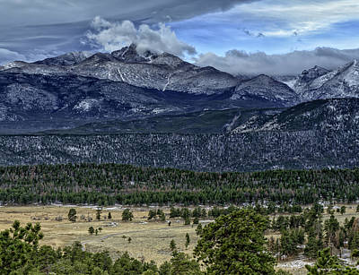 Long's Peak Art Print by Tom Wilbert