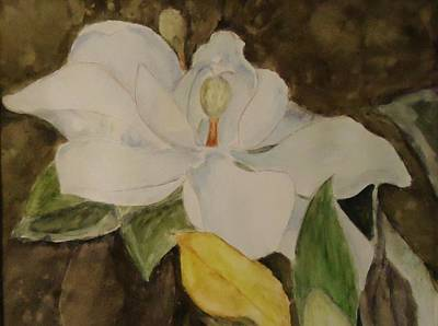 Painting - Longue Vue Magnolia by Katie Spicuzza