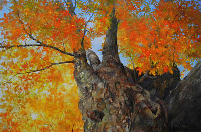 Wall Art - Painting - Look Up by Willis Miller
