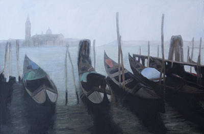 Painting - Looking Across Gondolas by Masami Iida