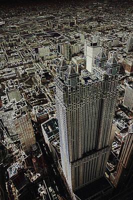 Looking Down On A Skyscraper Art Print