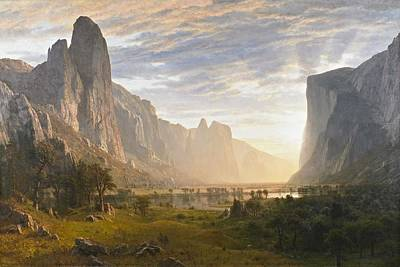 Yosemite Painting - Looking Down Yosemite Valley by Celestial Images