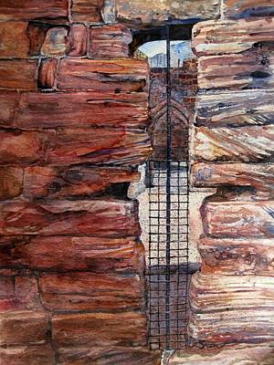 Kenilworth Castle Wall Art - Painting - Looking Into Kenilworth Castle by Sarah Kovin Snyder