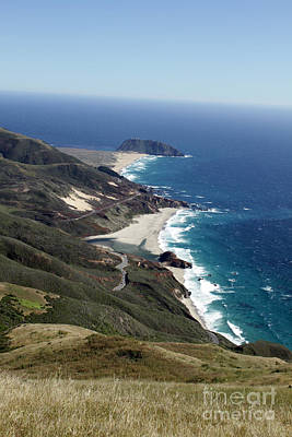 Photograph - Looking South Down The Big Sur Coast To Pt. Sur California  Photo By Pat Hathaway 2012 by California Views Mr Pat Hathaway Archives