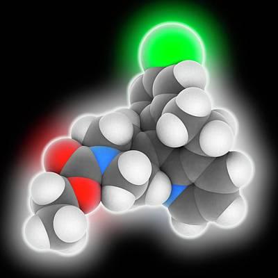 Loratadine Drug Molecule Art Print by Laguna Design