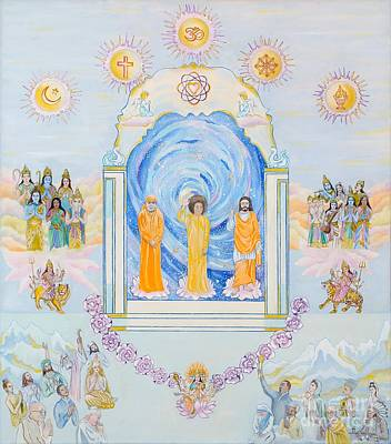 Unity Painting - Sathya Sai Baba Lord Of The Universe by Sonya Ki Tomlinson