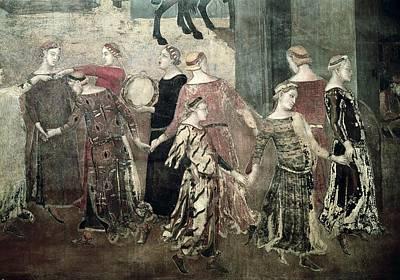 Lorenzetti, Ambrogio 1285-1348 Art Print