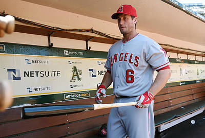 Photograph - Los Angeles Angels Of Anaheim V Oakland by Thearon W. Henderson