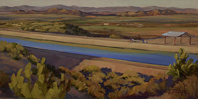 California Aqueduct Art Print by Jane Thorpe