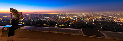 Photograph - Los Angeles As Seen From The Griffith Observatory by Celso Diniz
