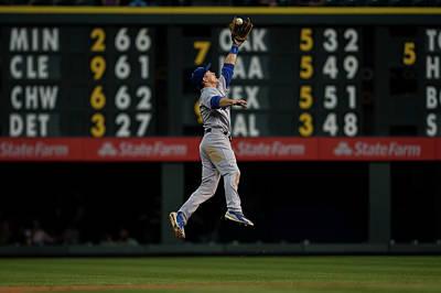 Photograph - Los Angeles Dodgers V Colorado Rockies by Dustin Bradford