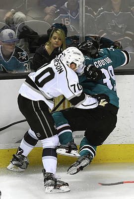 Los Angeles Kings Photograph - Los Angeles Kings V San Jose Sharks - by Thearon W. Henderson