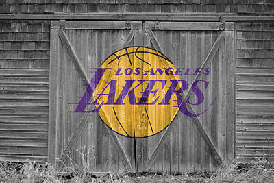 Los Angeles Lakers Art Print by Joe Hamilton