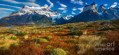 Photograph - Los Cuernos Panorama by Inge Johnsson