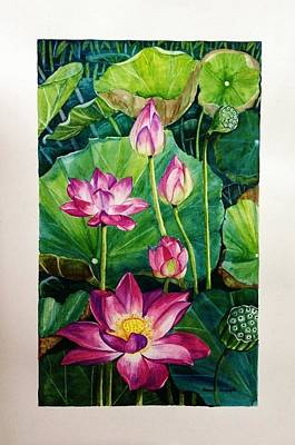 Painting - Lotus Pond by Sonali Sengupta