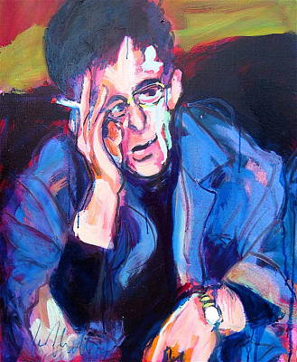 Painting - Lou Reed by Les Leffingwell