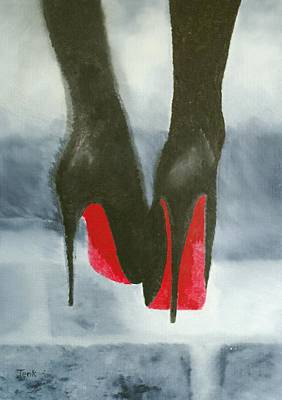 Louboutin At Midnight Print by Rebecca Jenkins