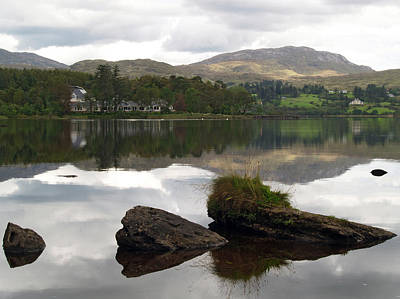 Lough Eske Reflections Art Print by Steve Watson