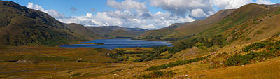 Lough Photograph - Lough Nafooey, Shot From The County by Panoramic Images