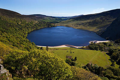 Lough Photograph - Lough Tay Below Luggala Mountain by Panoramic Images