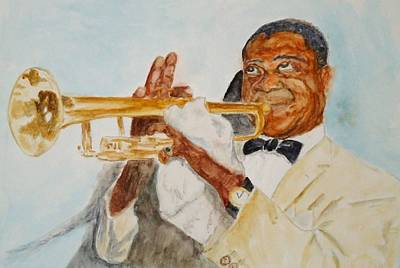 Painting - Louis Armstrong 2 by Katie Spicuzza