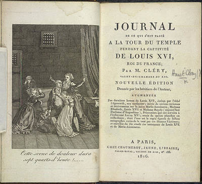 Louis Xvi Print by British Library