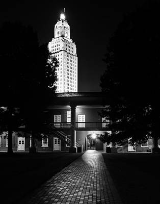 Historical Photograph - Louisiana State Capitol And Pentagon Barracks by Andy Crawford