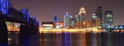 Fried Chicken Photograph - Louisville Panoramic View by Frozen in Time Fine Art Photography