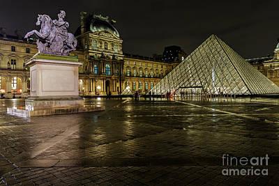 Louvre Pyramid And Pavillon Richelieu Art Print by Rostislav Bychkov