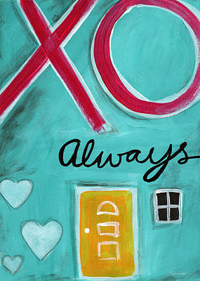Card Painting - Love Always by Linda Woods