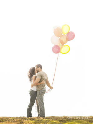 Love And Balloons Art Print by Diane Diederich