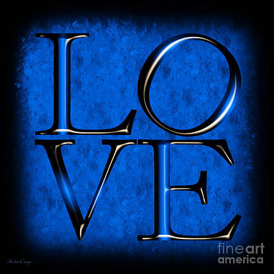 Digital Art - Love In Blue by Andee Design