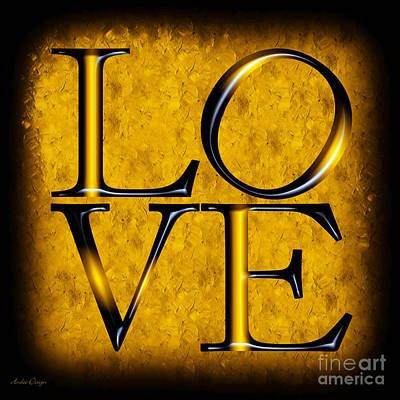 Digital Art - Love In Yellow by Andee Design