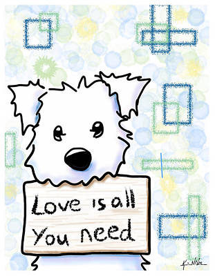Love Is All You Need Art Print by Kim Niles